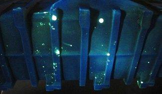 imágenes de indicaciones utilizando un penetrante fluorescente